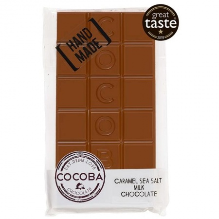 Cocoba Sea Salt Caramel Chocolate Bar