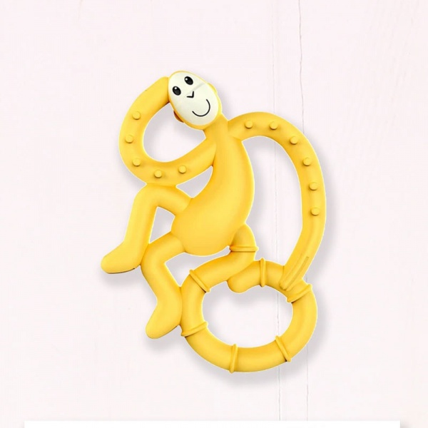 Matchstick Monkey Mini Baby Teether - Yellow