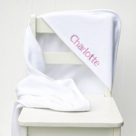 Personalised Embroidered White Hooded Towel