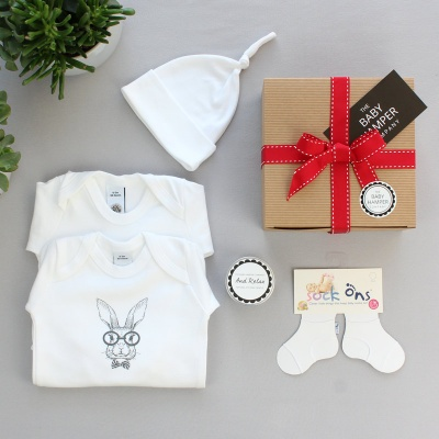'Pure White' Baby Hamper - Large