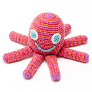 Pebble Fairtrade Crochet Octopus - Pink