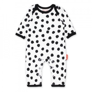 Toby Tiger Monochrome Spot Print Sleep Suit - Unisex